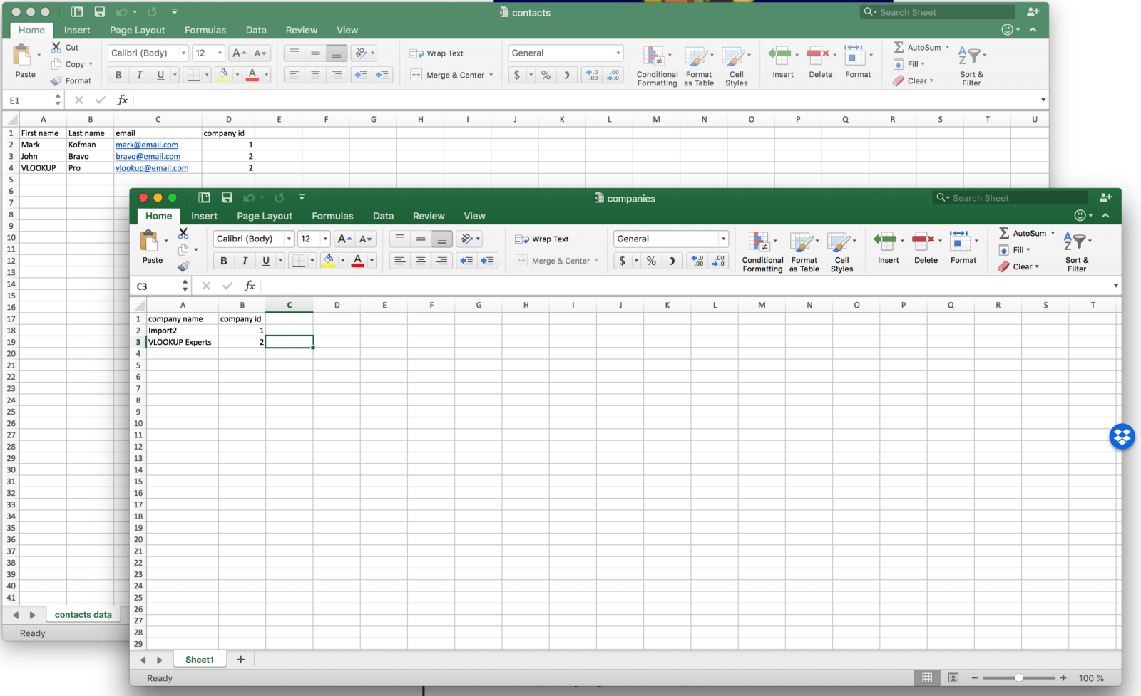 Join Multiple Data Sheets In Excel Using Vlookup Function