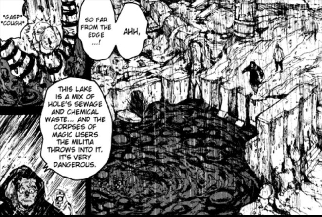 Black goo is Hole's chemical waste in the manga Dorohendoro.
