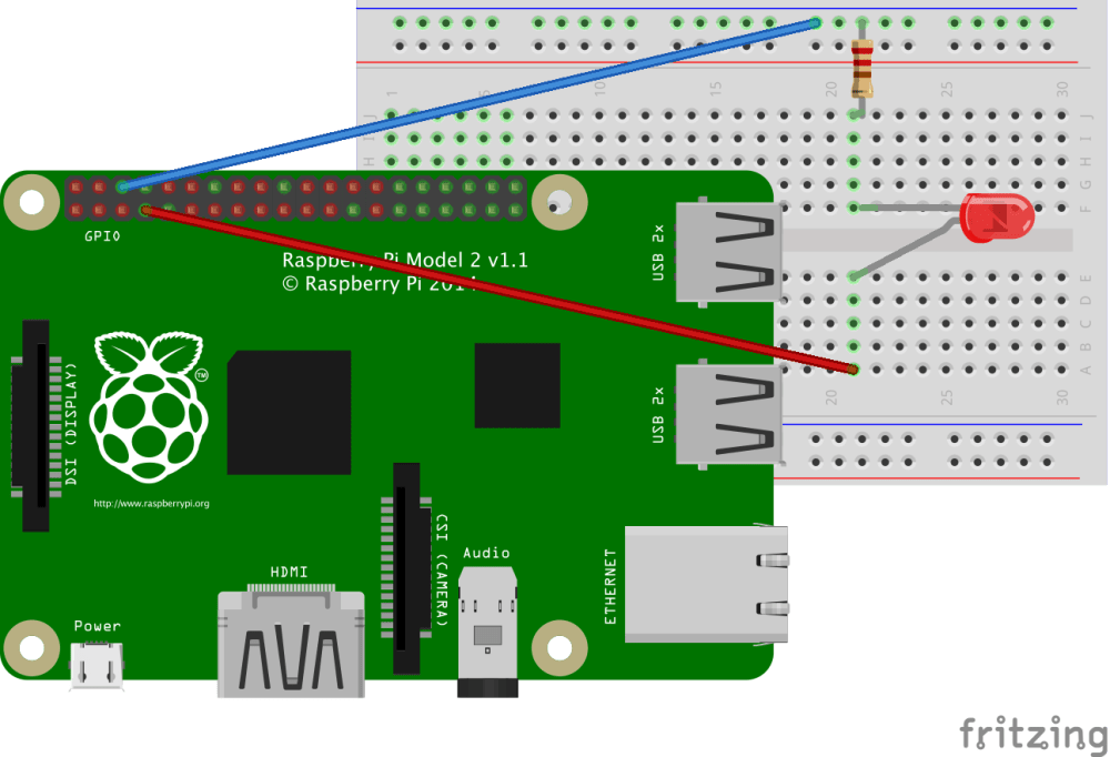 medium resolution of led resistor connected to ground to one side and to a gpio pin on the other side