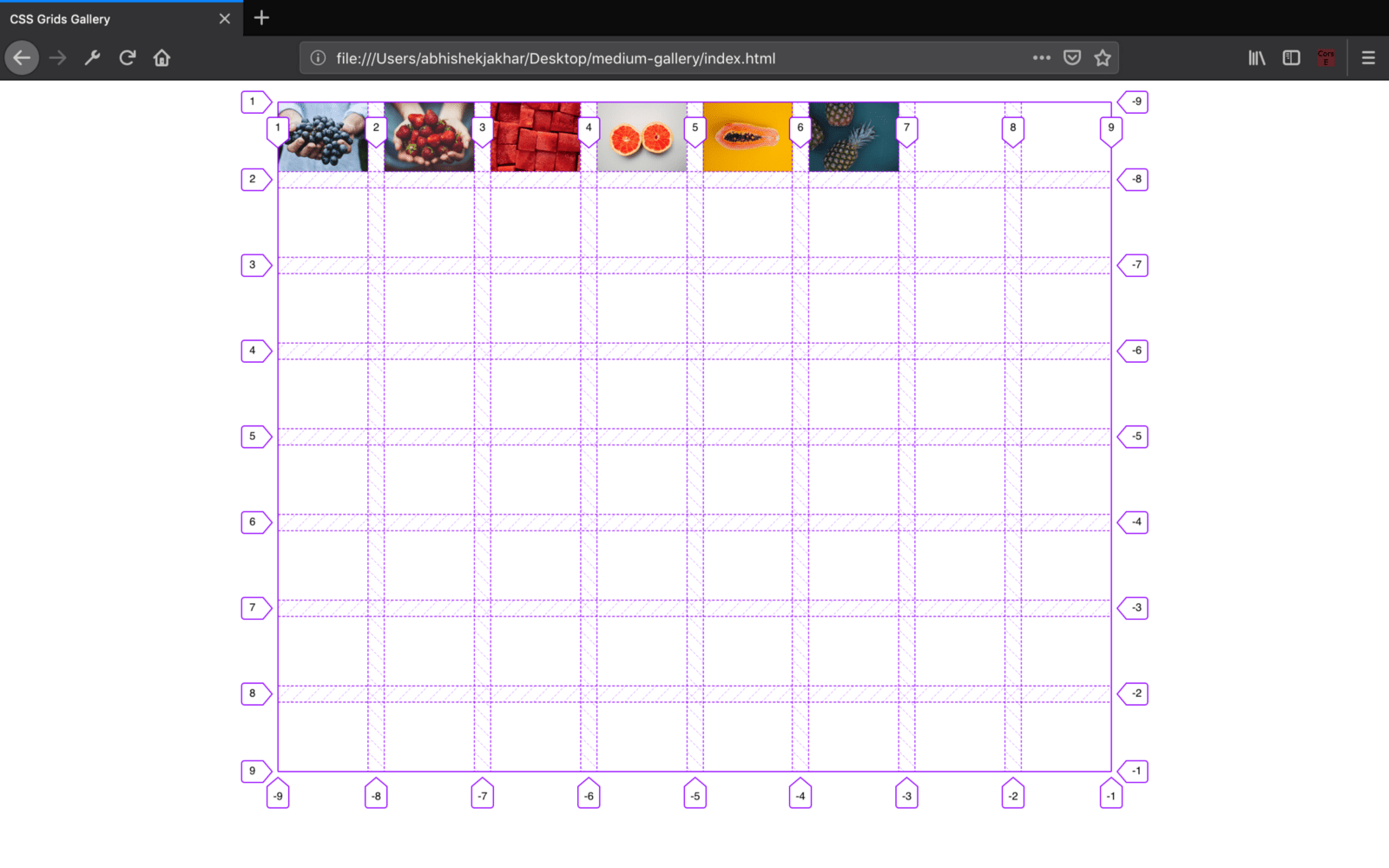 note by default the grid items are laid out according to the grid auto placement rules