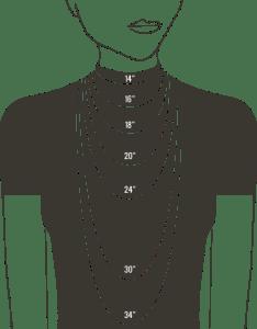 Necklace size chart for women also  gemn jewelery medium rh