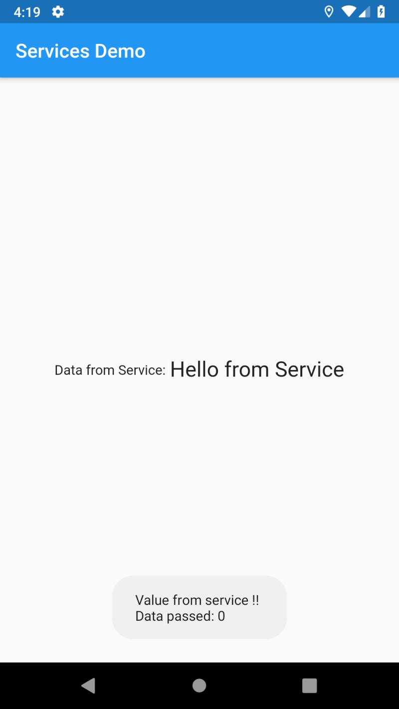 Flutter and Services - Flutter - Call Platform specific methods