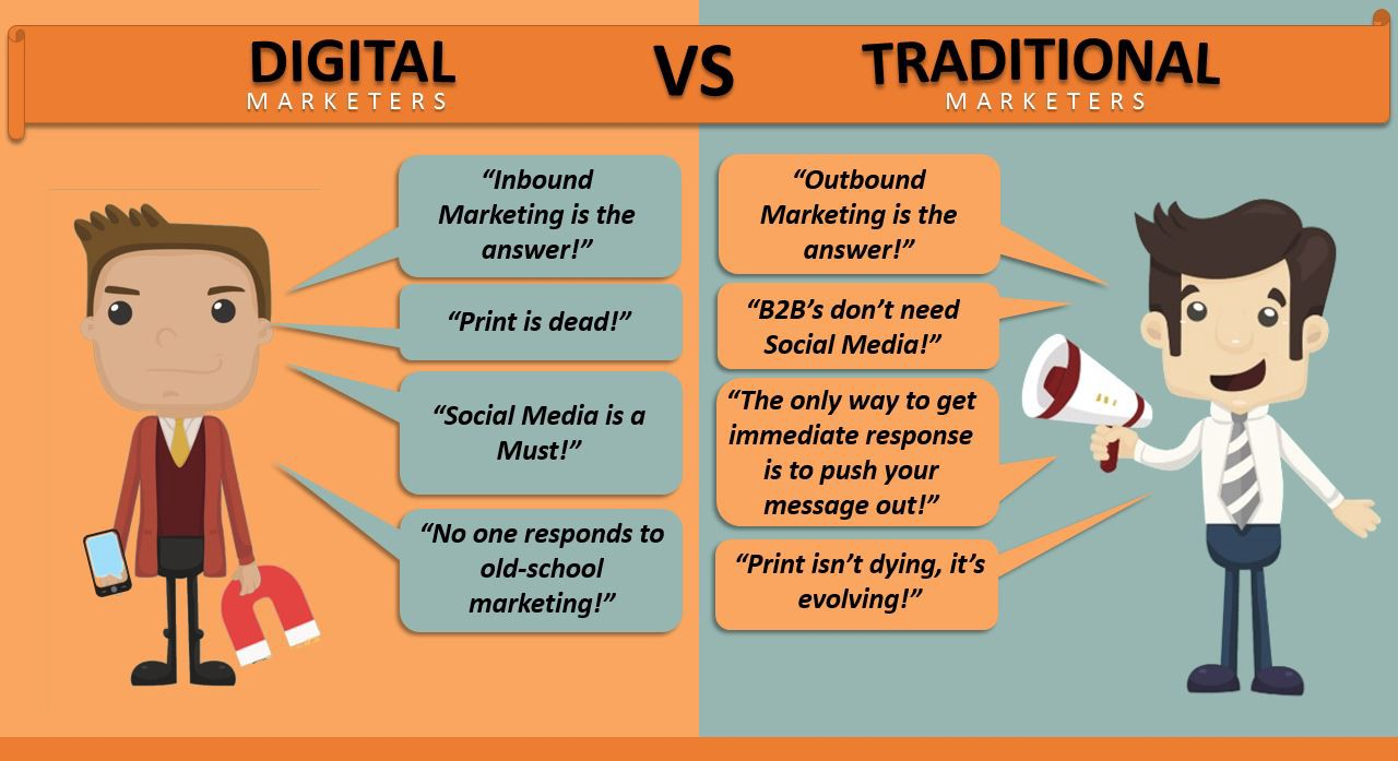 Direct digital marketing is a method of marketing handled primarily through direct digital channels like email and web. Digital vs. Traditional Marketing: Which One Is Better For ...