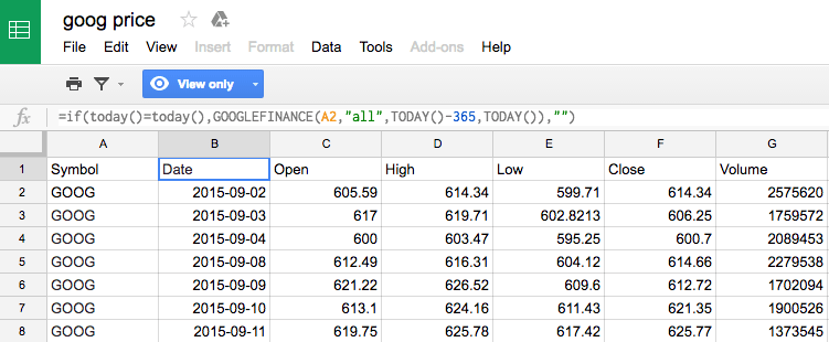 BigQuery tricks: Pull daily Google Finance Data without an import ...