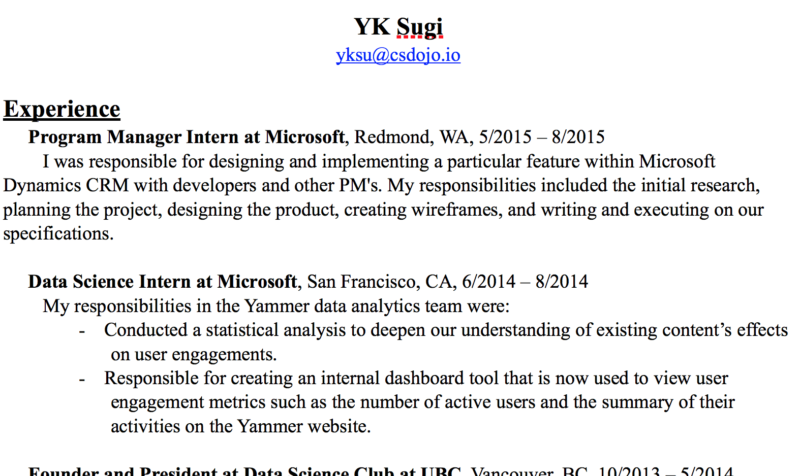 What Should I Write In My Resume Here S The Resume I Used To Get A Job At Google As A Software