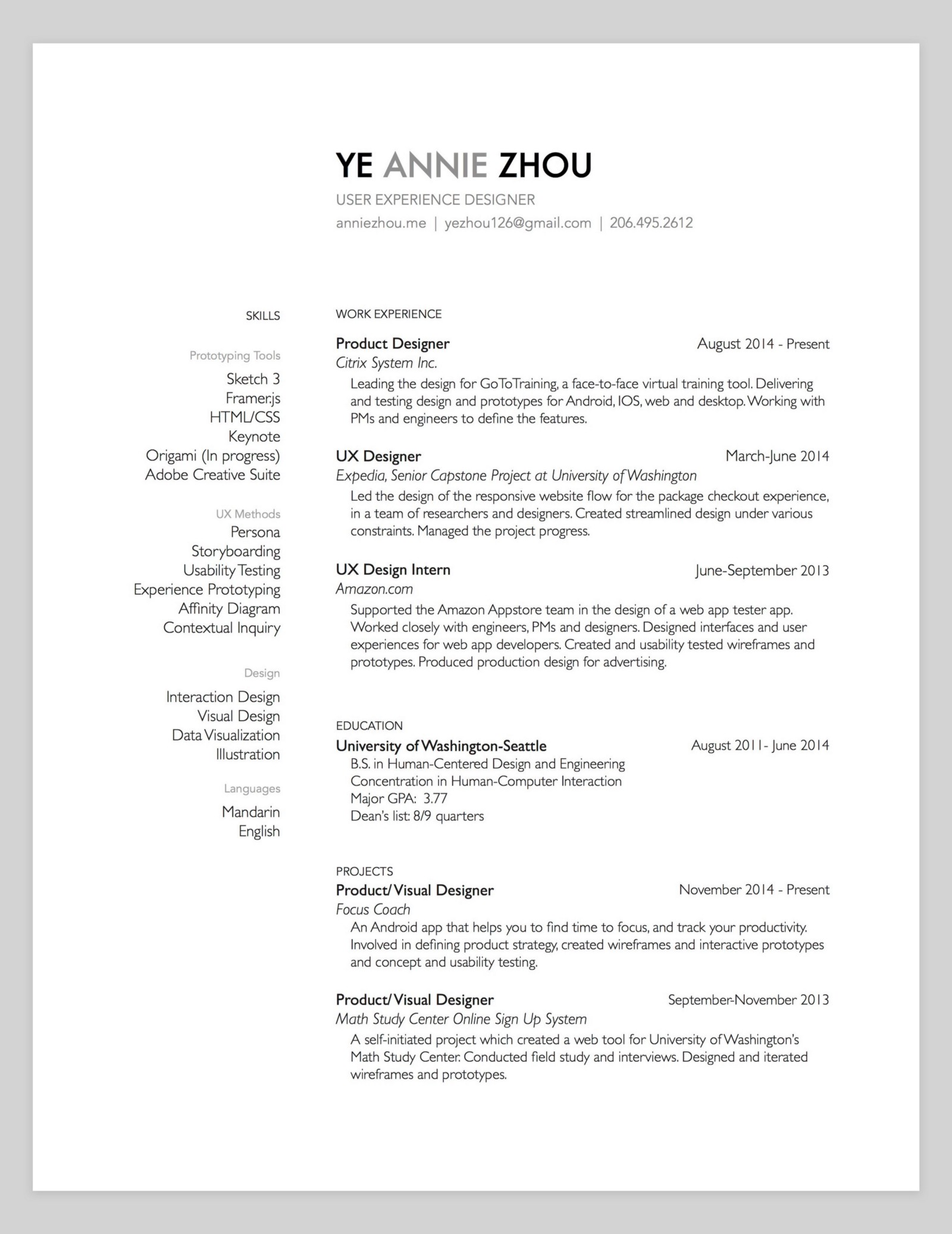 Resume For Tool And Die Maker 10 Amazing Designer Resumes That Passed Google S Bar