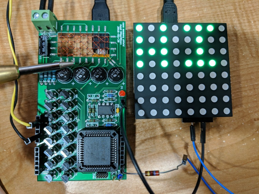 medium resolution of interactive core memory shield for arduino visualized using a featherwing led matrix