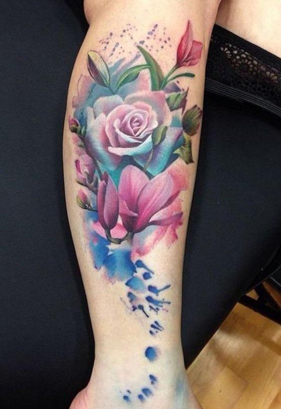 Tatuajes Mujeres Brazo Rosas