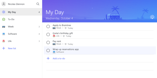 small resolution of to do s my day list will recommend tasks if you click the top right light bulb