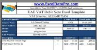 7 UAE VAT Excel Templates by ExcelDataPro  Mohammed Fahim ...