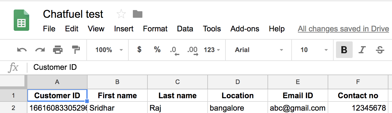 Chatfuel tutorial to save and read information from Google Sheets ...