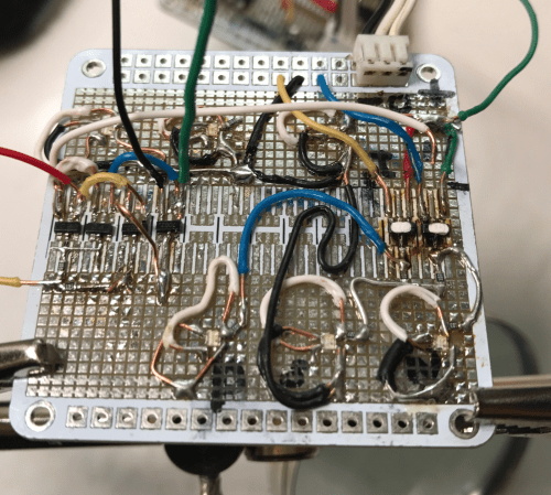 small resolution of i started building this gate on the same board as in exploring ternary logic building ternary inverters using complementary mosfets but while wiring up