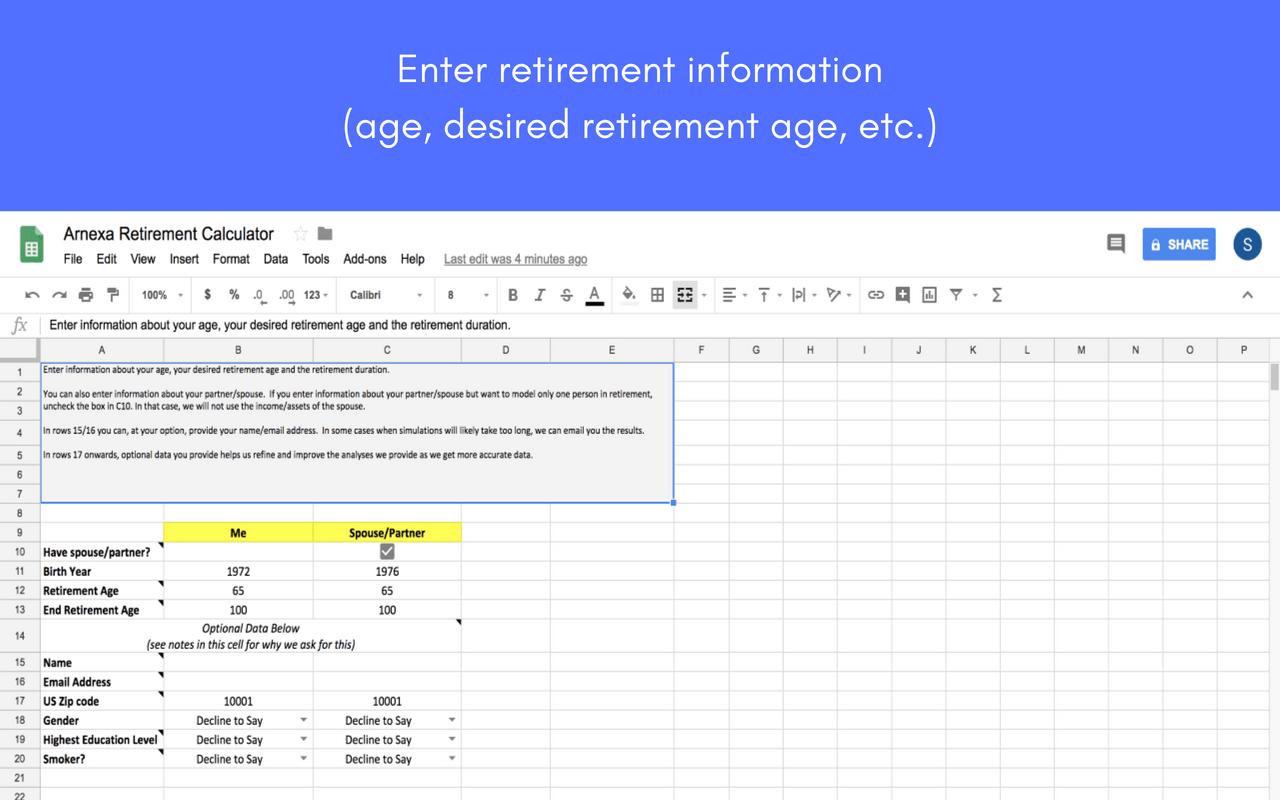 The Arnexa Retirement Calculator Powerful Yet Simple Retirement Planning