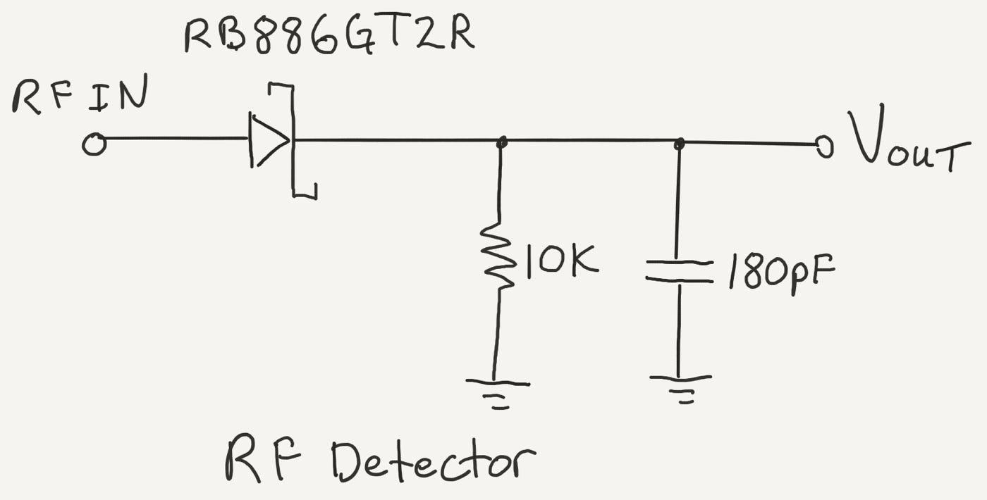 rf detector circuit schematic