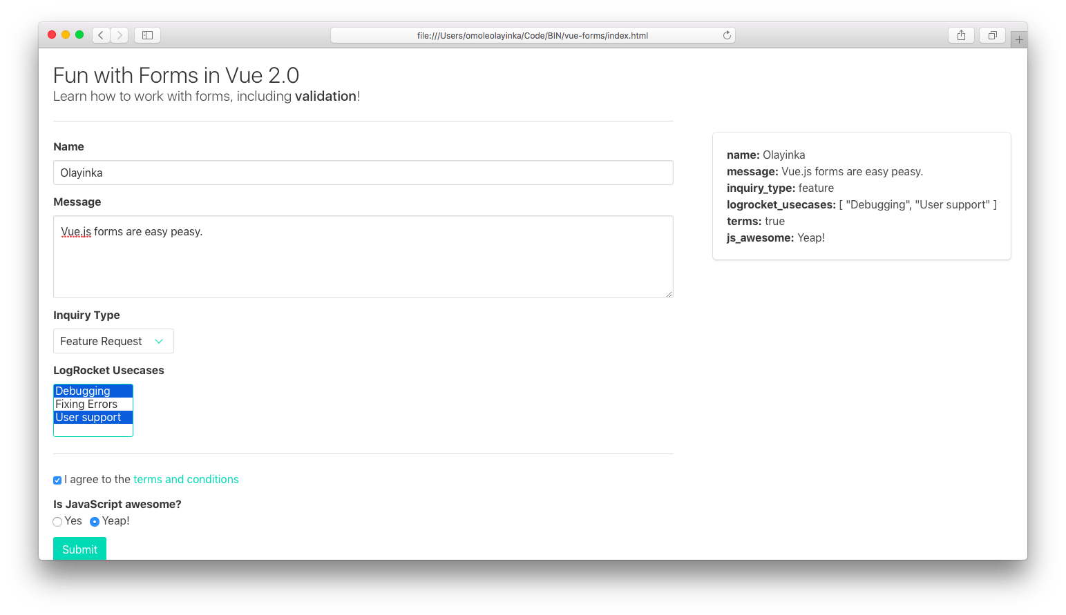 An imperative guide to forms in Vue.js
