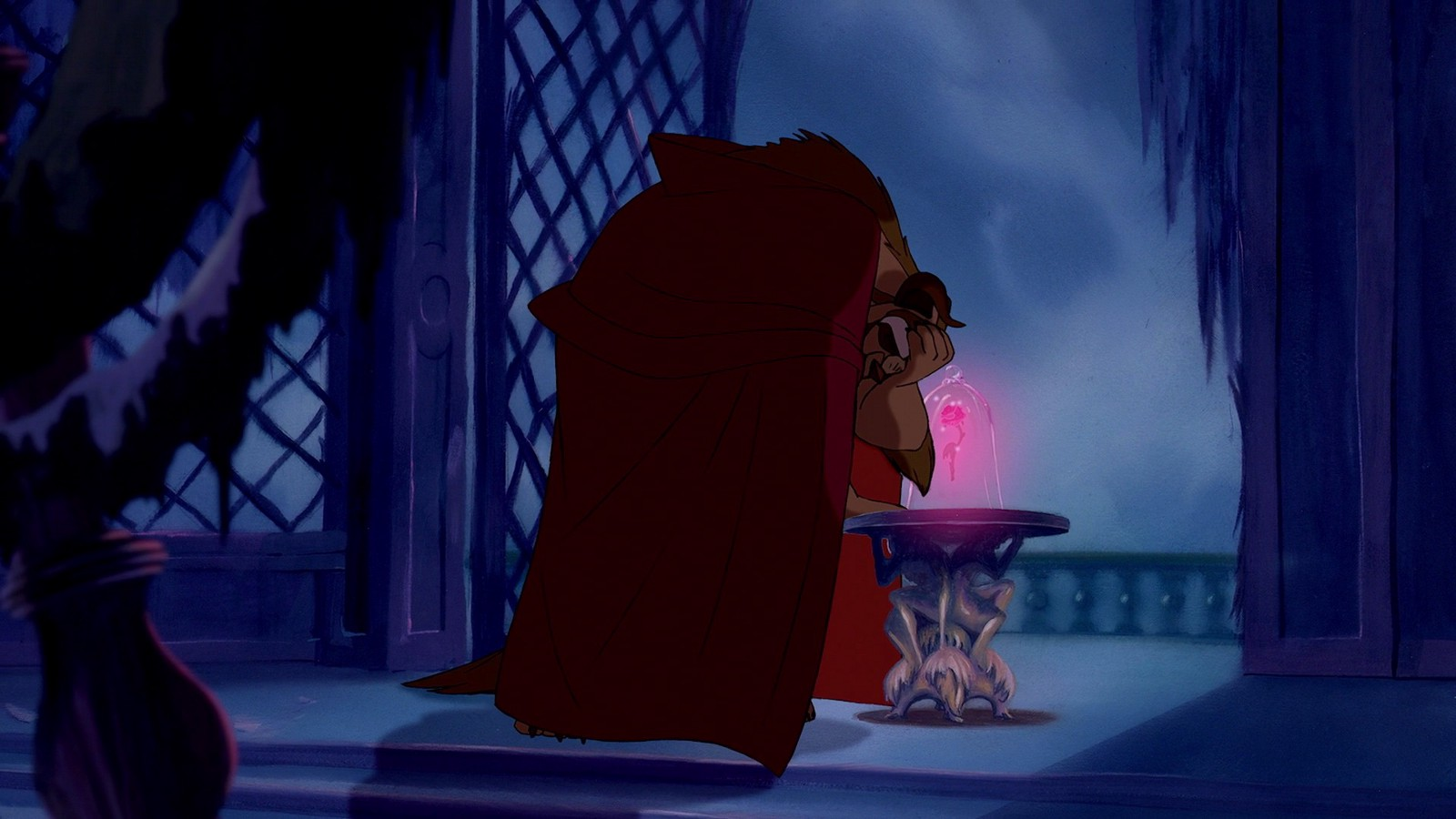 The Beast and his enchanted rose in Disney's Beauty and the Beast (1991).