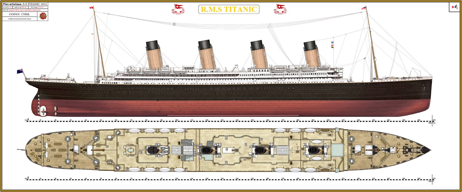hight resolution of the titanic was built by the harland and wolff shipyard in belfast thomas andrews her architect died in the disaster