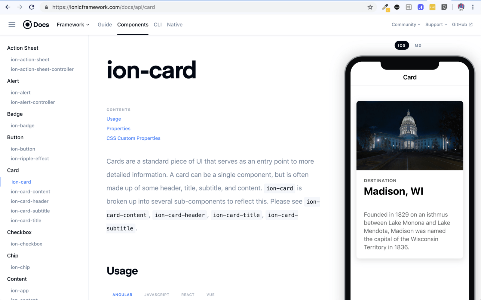 Building an Ionic application using React
