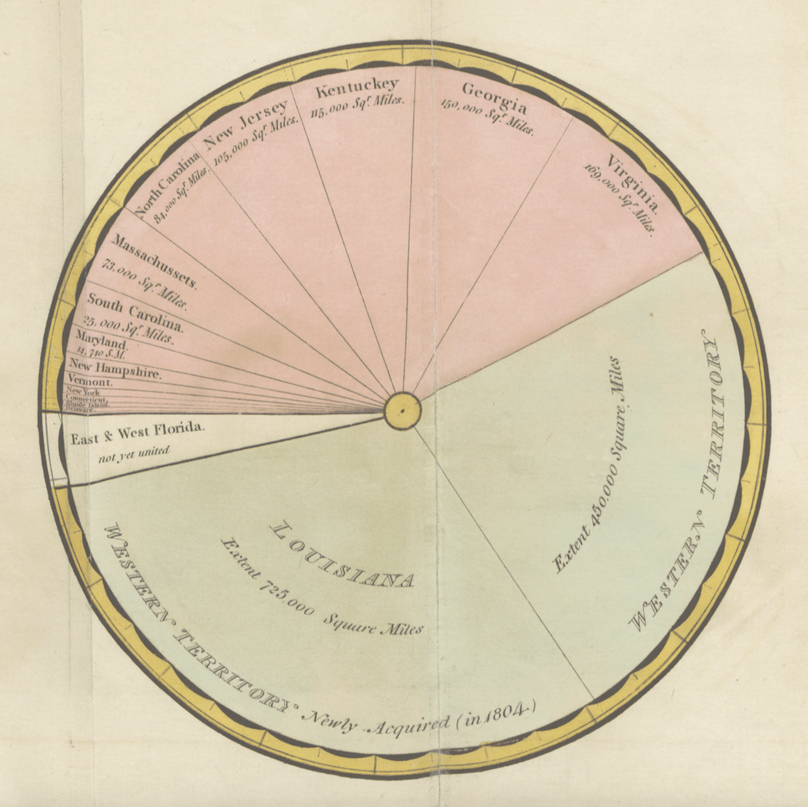 hight resolution of one of the earliest uses of the modern pie chart a visualization model that william playfair is credited with inventing