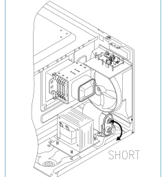 though i did find the comparable daewoo kor 161 service manual on daewoo com mx this manual describes how to short the high voltage capacitor  [ 1146 x 1492 Pixel ]
