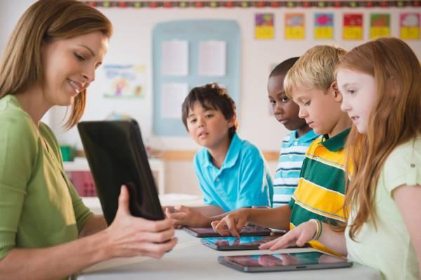 Classroom Teacher Using Technology