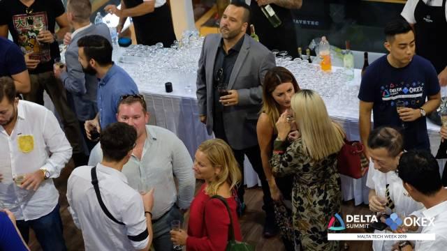 DELTA Summit OKEx Malta Tech Week—Malta Stock Exchange VIP Drinks