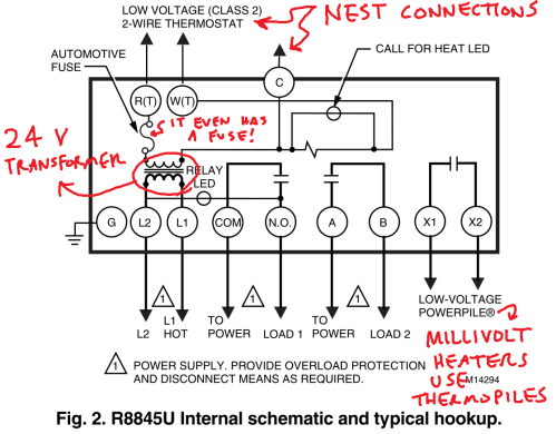small resolution of controlling an ancient millivolt heater with a nest rh medium com gas heater wiring diagram millivolt thermostat check system