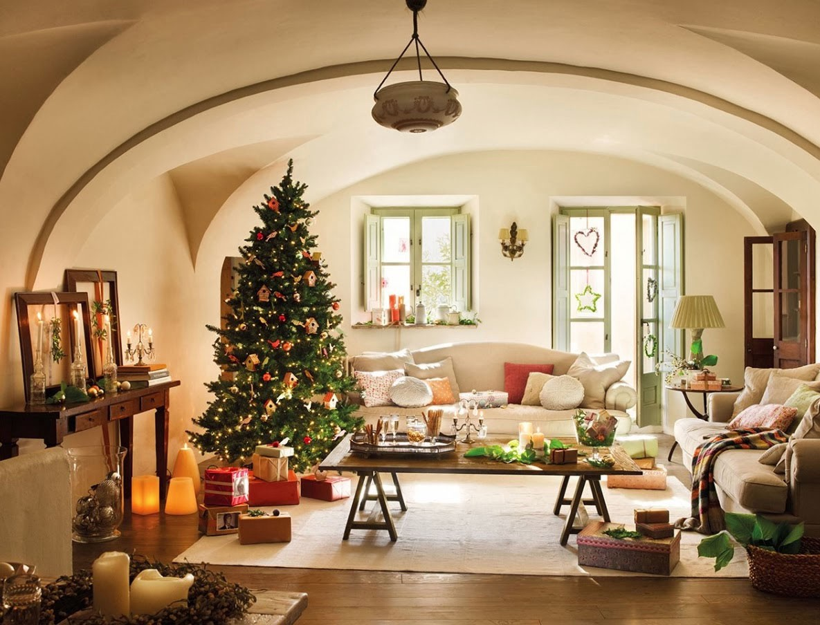beautiful living rooms at christmas floor lamp for room decorating holiday in most homes the is first point to grab guest s attention when it comes decor considered as center place where