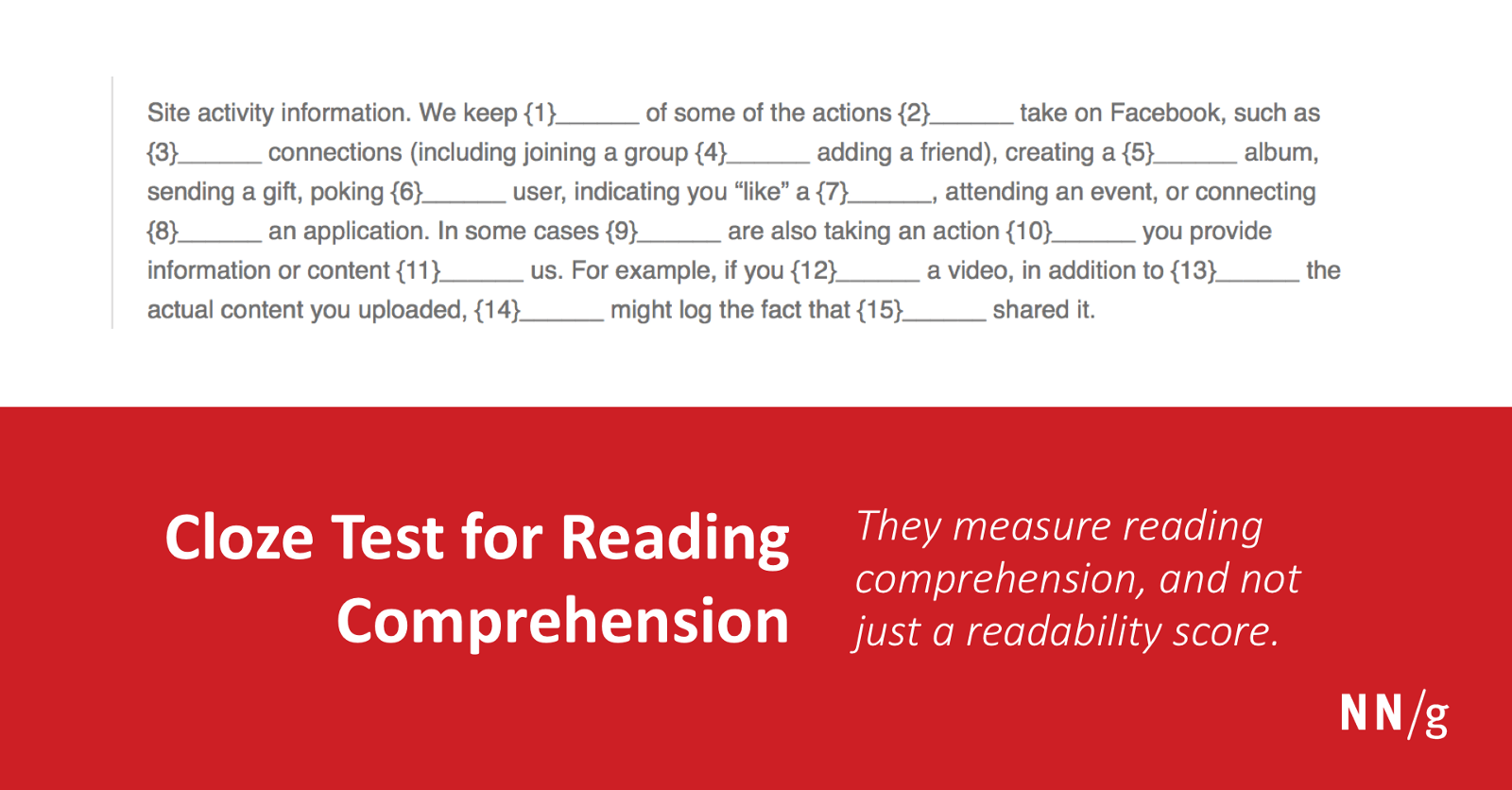 Cloze Testing The Leading Ux Test For Content Comprehension