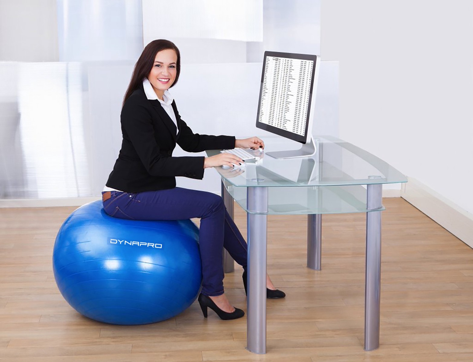 Exercise Ball Desk Chair Exercise Ball Make The Smart Choice To Stay Fit At Work