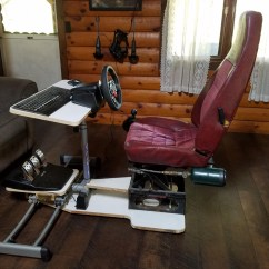 Racing Seat Office Chair Diy Boon High Pink Simulator Is A Repurposed Masterpiece