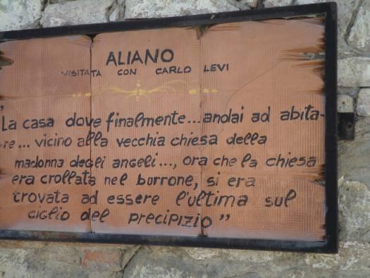 Street sign in Aliano