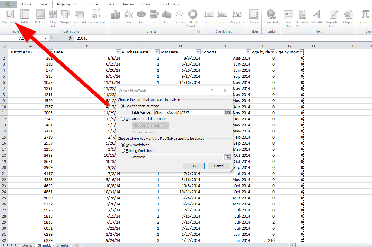 How to do your Cohorts analysis in Google Spreadsheet