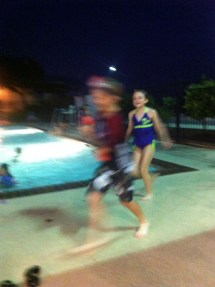 Kids Running around Pools Pictures