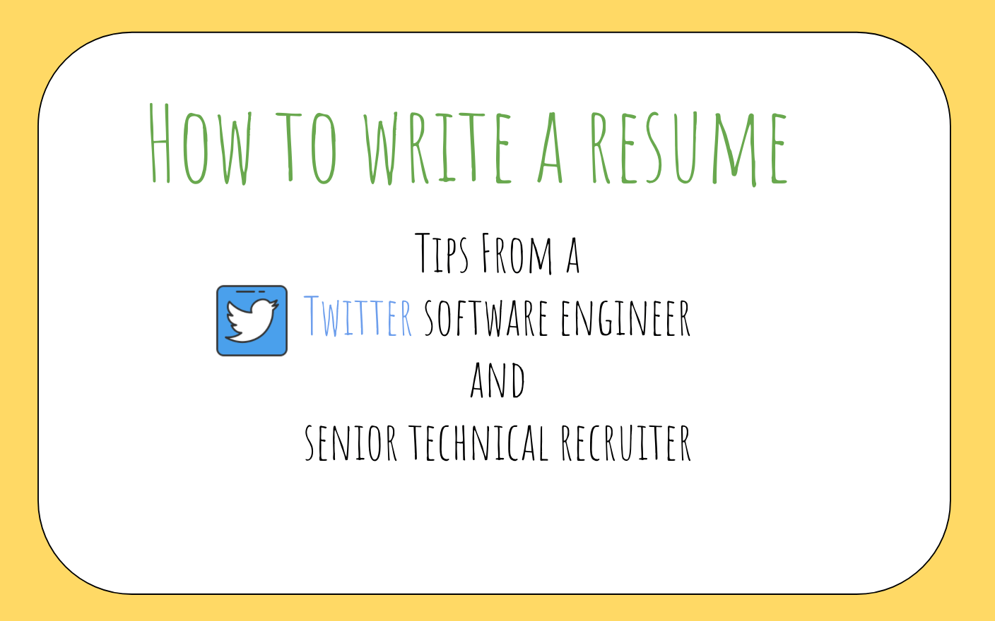How To Write A Resumer How To Write A Great Resume For Software Engineers Freecodecamp Org
