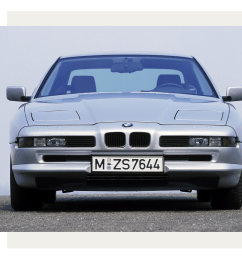 the 1988 bmw 8 series the first car to adopt the can bus [ 2400 x 2129 Pixel ]