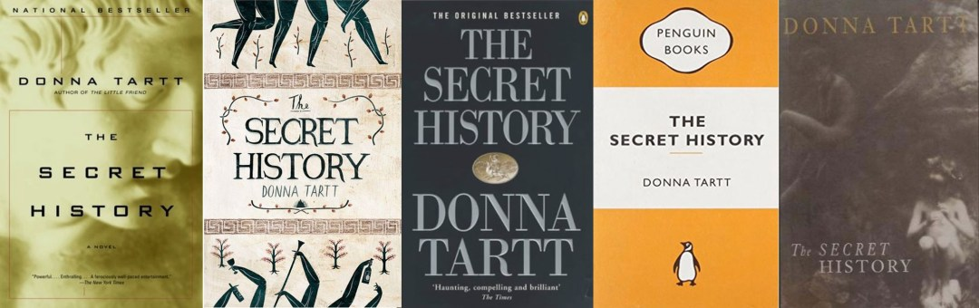 Covers of Donna Tartt's The Secret History, a book to read in June.