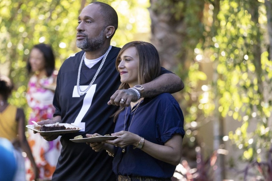 (Left to Right; Black-ish creator, Kenya Barris, Actress Rashida Jones)