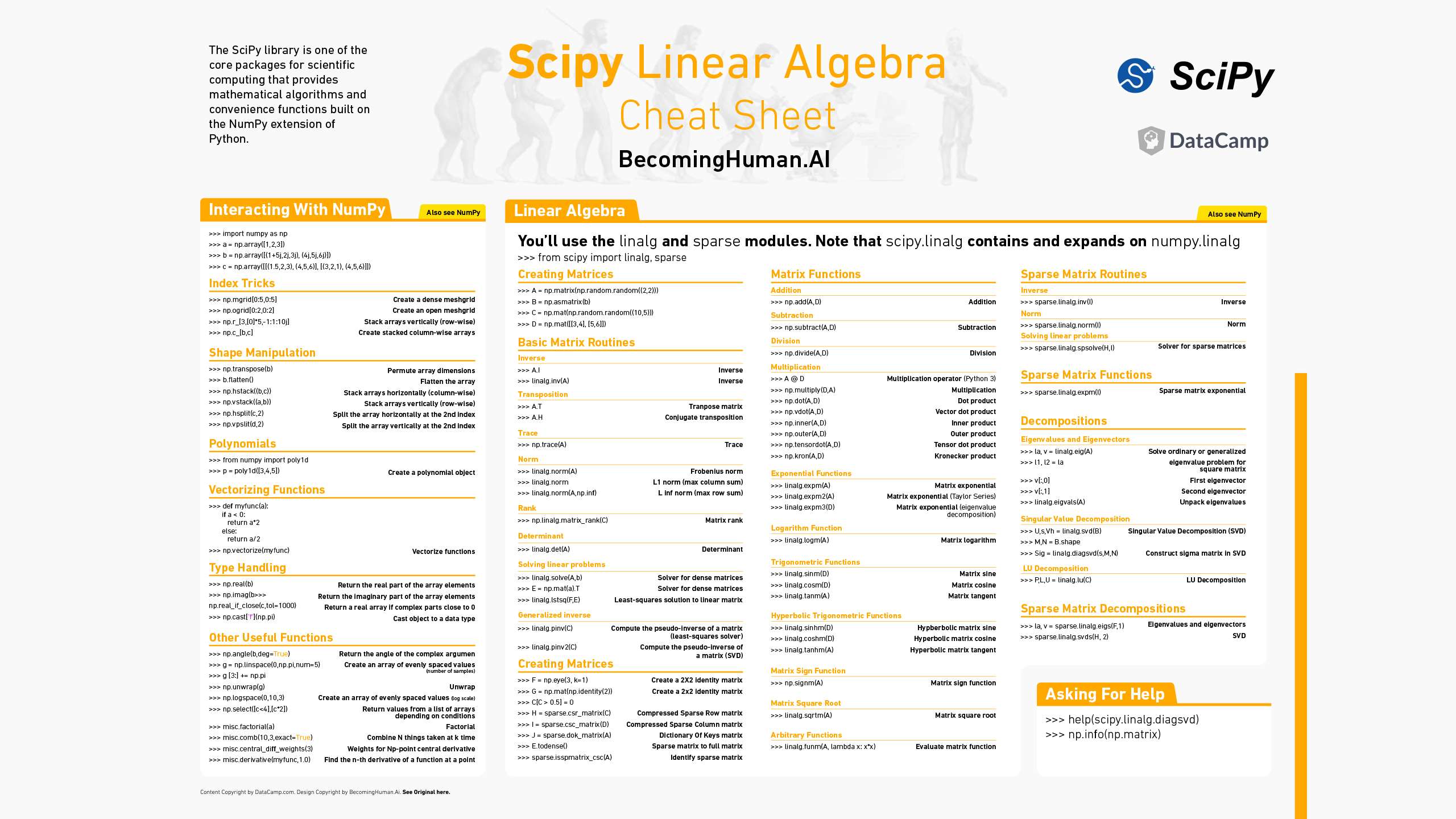 Downloadable Cheat Sheets For Ai Neural Networks Machine Learning Deep Learning Amp Data Science