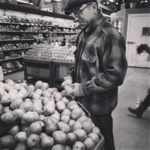 D Buying Produce in Bellingham