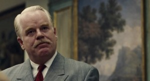 """Hoffman as Lancaster Dodd in """"The Master"""""""
