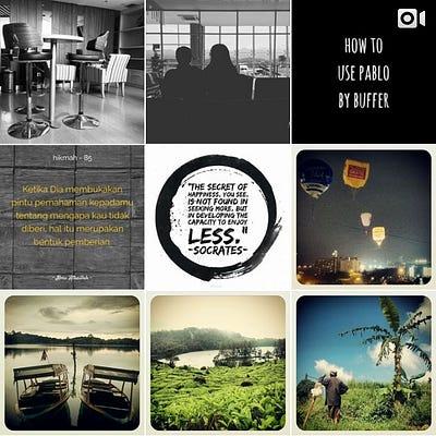 Tampilan Instagram delapan belas foto bagian ke dua