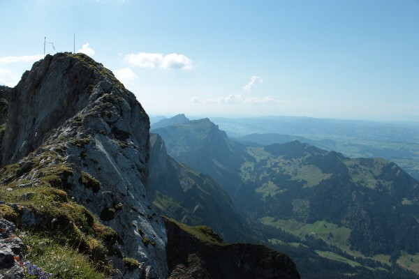 Along the crooked spine of Mount Pilatus.
