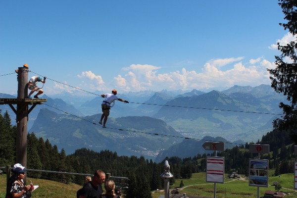 The adventure park on the slopes of Mount Pilatus.