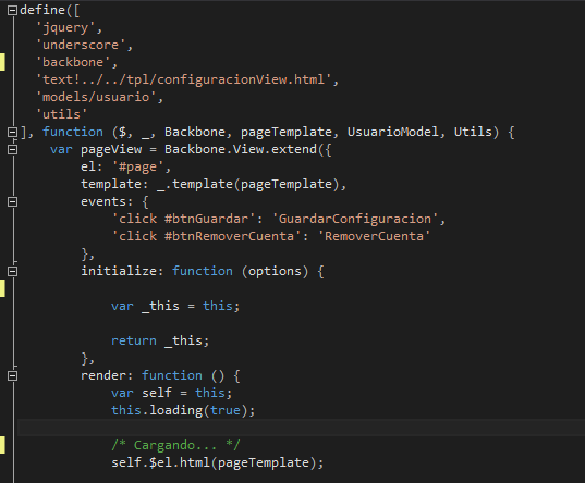 Some code I wrote for a mobile application