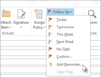 Email inbox flags