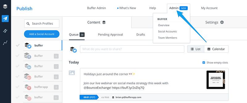 Buffer tự động đăng nội dung theo kế hoạch của bạn