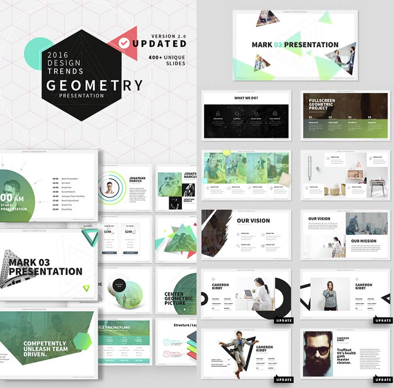 Mark  Stylish, Ultra-Cool PPT Template