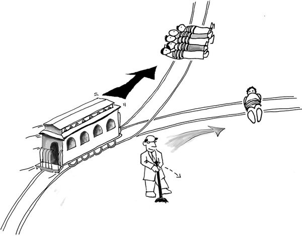 Self-driving cars and the Trolley problem