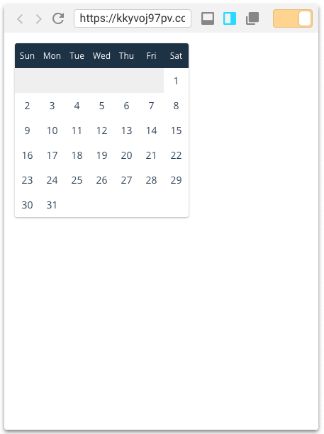 Build a React Calendar Component from scratch